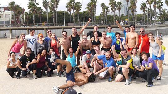 Uno de los grupos de entrenamiento de Functional Fitness Barcelona.